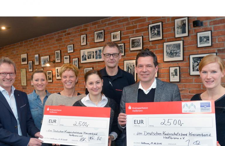 MARRAHAUS Gastronomen und Kruck + Partner spenden 10.000 Euro