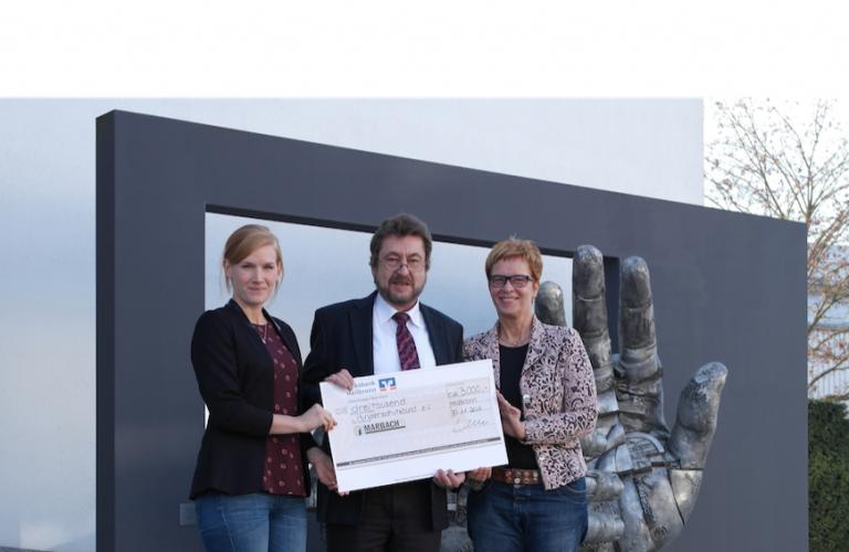 Marbach spendet 3000 Euro