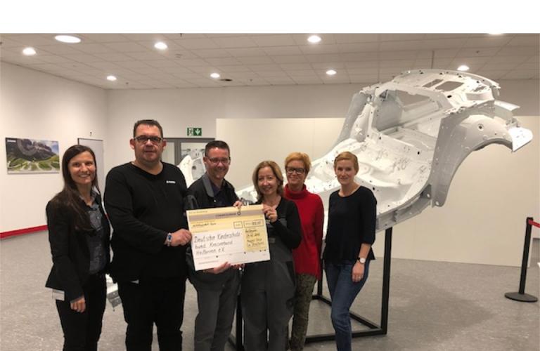 Magna Car Structures spendet 800 Euro an den Kinderschutzbund